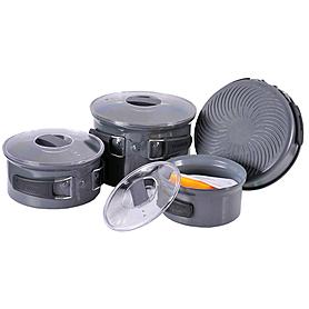 Фото 2 к товару Набор посуды из анодированного алюминия на 4-5 персон (профилированное дно) Tramp