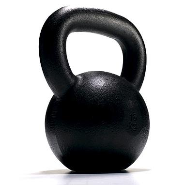 Гиря чугунная 20 кг York (черная)