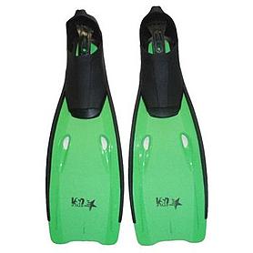 Ласты c закрытой пяткой USA Style SS-F-811 зеленые, размер - 33-34