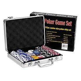 Фото 1 к товару Набор для игры в покер, 200 фишек с номиналом