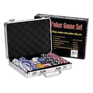 Набор для игры в покер, 200 фишек с номиналом