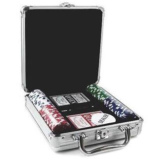 Набор для игры в покер, 100 фишек с номиналом