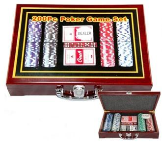 Набор для игры в покер, 200 фишек G-2314