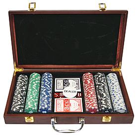 Фото 2 к товару Набор игровой для покера, 300 фишек - уцененный*