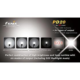 Фото 3 к товару Фонарь ручной Fenix PD20 Cree XP-G LED R5