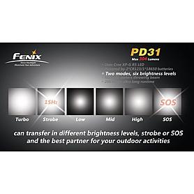 Фото 3 к товару Фонарь ручной Fenix PD31 Cree XP- G LED R5