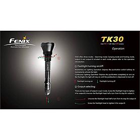 Фото 8 к товару Фонарь тактический Fenix TK30 Cree MC-E LED