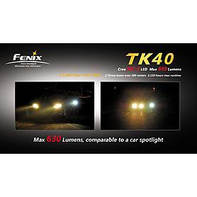 Фото 3 к товару Фонарь тактический Fenix TK40 Cree MC-E LED