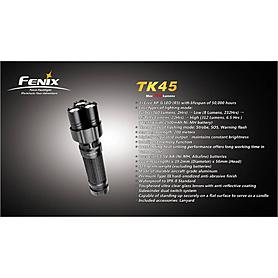Фото 7 к товару Фонарь тактический Fenix TK45 Cree 3 x XP-G R5 LED