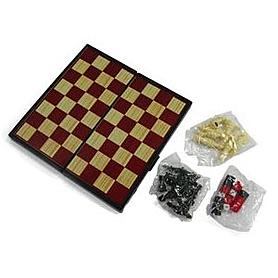 Фото 2 к товару Набор игр магнитный 3 в 1 Leon Magnetic - шашки, шахматы, нарды