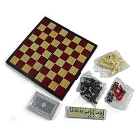 Фото 2 к товару Набор игр магнитный 4 в 1 Leon Magnetic - шашки, шахматы, нарды, карты