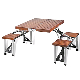 Фото 1 к товару Стол раскладной + 4 стула с креплением SJ-C03-1