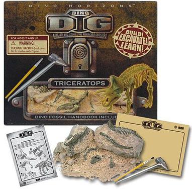 Игровой набор Раскопки Трицератопса Dino Horizons