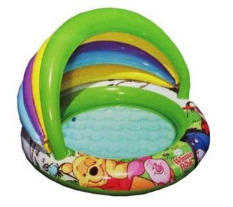 Бассейн надувной детский  «Вини пух» Intex 57424 (102х13 см)