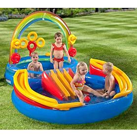 Фото 2 к товару Комплекс детский игровой надувной «Радуга» Intex 57453 (297x163x135 см)