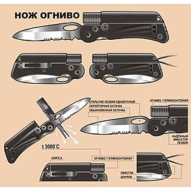 Фото 3 к товару Нож складной Экспедиция «Нож-огниво»