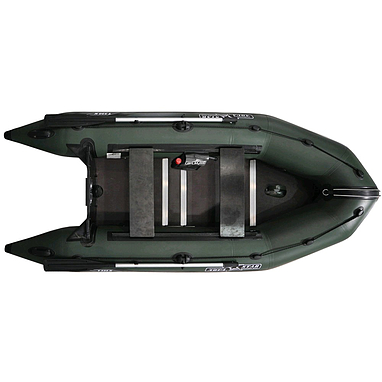 Лодка надувная моторная килевая Aquastar K320 зеленая