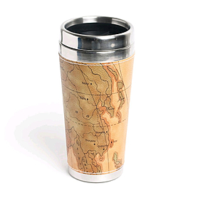 Фото 1 к товару Термостакан-карта «Где я?» Экспедиция