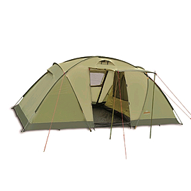 Фото 1 к товару Палатка четырехместная Pinguin Base Camp 4 зеленая