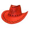 «Шляпа ковбойская» красная  Экспедиция с орнаментом - фото 1