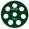 Диск обрезиненный олимпийский 10 кг Ivanko RCP19-10 цветной - 51 мм - фото 1