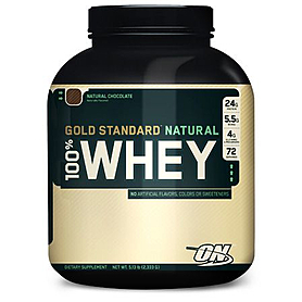 Фото 1 к товару Протеин Optimum Nutrition Natural Whey Gold  (2,327 кг)