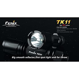 Фото 5 к товару Набор (фонарь Fenix TK11, зарядное устройство, аккумулятор) +клипса на ремень в подарок