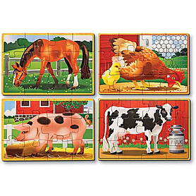 Фото 2 к товару Набор пазлов «Животные на ферме» Melissa & Doug