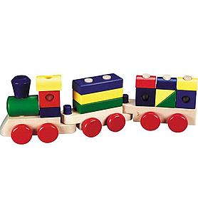 Фото 1 к товару Поезд с кубиками Melissa & Doug