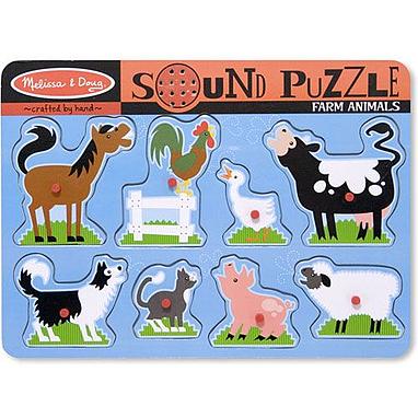 Пазл звуковой «Животные на ферме» Melissa & Doug