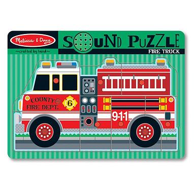 Пазл звуковой «Пожарная машина» Melissa & Doug