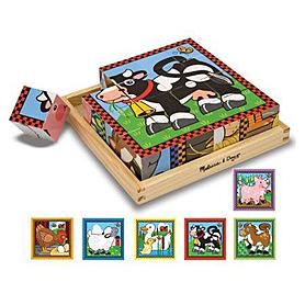 Фото 1 к товару Набор кубиков «Ферма» Melissa & Doug
