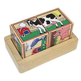 Фото 1 к товару Звуковые кубики «Ферма» Melissa & Doug