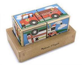 Звуковые кубики «Транспорт» Melissa & Doug