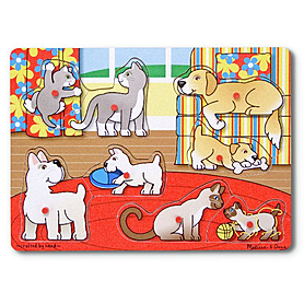 Фото 1 к товару Рамка – вкладыш «Угадай домашнее животное» Melissa & Doug