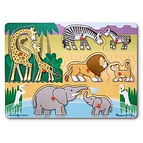 Фото 1 к товару Рамка – вкладыш «Угадай африканское животное» Melissa & Doug