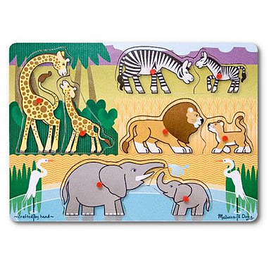Рамка – вкладыш «Угадай африканское животное» Melissa & Doug