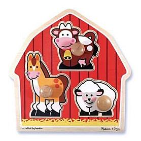 Фото 1 к товару Пазл формовой «Животные с фермы» Melissa & Doug