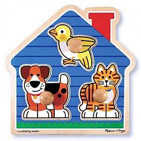 Фото 1 к товару Пазл формовой «Домашние животные» Melissa & Doug