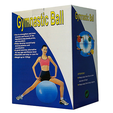 Мяч для фитнеса (фитбол) с системой антиразрыва 65 см Bradex