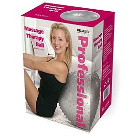 Фото 2 к товару Мяч для фитнеса (фитбол) массажный 75 см Bradex