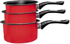 Кастрюли и ковшики Milk pan red
