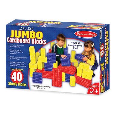Большие картонные кубики 40 шт. Melissa & Doug