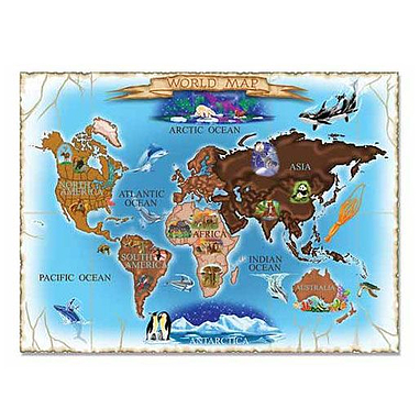 Пазл «Карта мира» Melissa & Doug