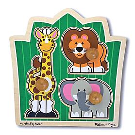 Пазл формовой «Друзья из джунглей» Melissa & Doug