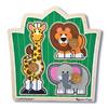Пазл формовой «Друзья из джунглей» Melissa & Doug - фото 1