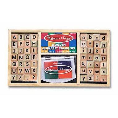 Деревянные штампы «Алфавит» Melissa & Doug