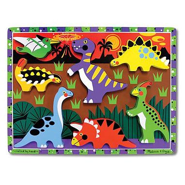 Пазл формовой «Динозавры» Melissa & Doug