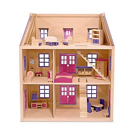 Фото 3 к товару Многоэтажный кукольный домик Melissa & Doug