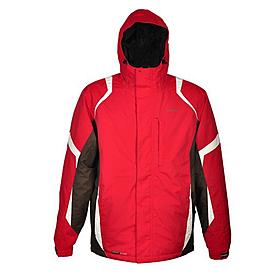 Куртка горнолыжная Campus Lancaster красно-коричнево-белая